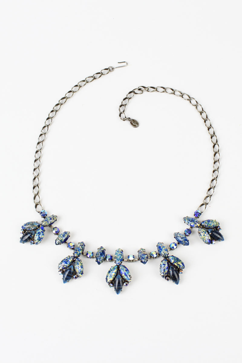 De Luxe Speckled Blue Glass Necklace
