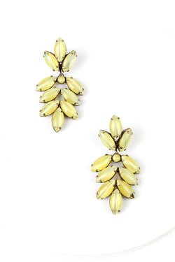 De Luxe Navette Drop Leaf Earrings
