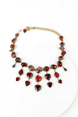 De Luxe Cuba Teardrop & Hearts Necklace