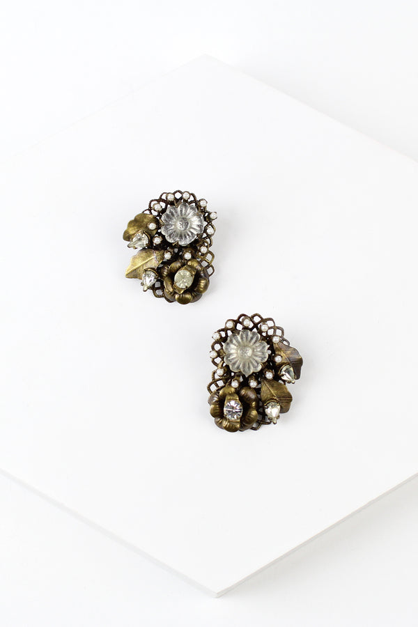 De Luxe Floral Bouquet Earrings