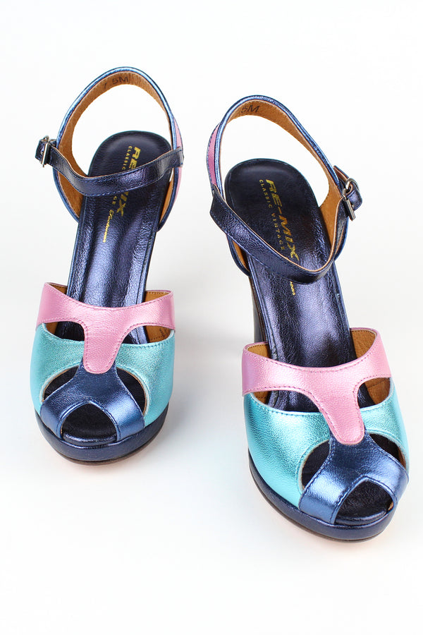 Re-Mix Carnival 3 Heels - Trashy Diva - Pastel Metallic - Carmen Miranda inspired platform high heel