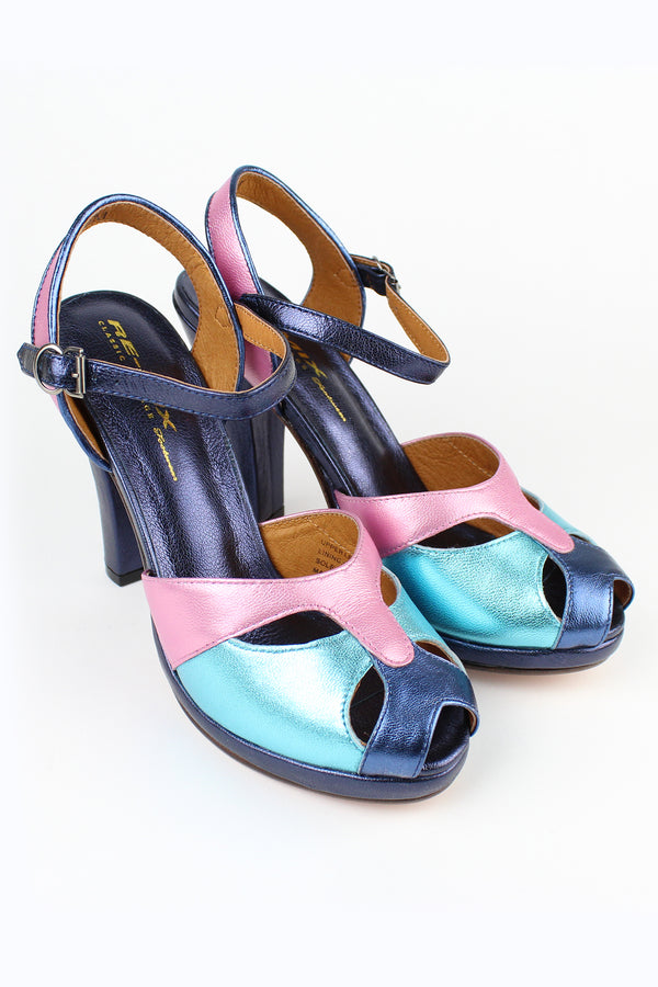 Re-Mix Carnival 3 Heels - Trashy Diva - Pastel Metallic