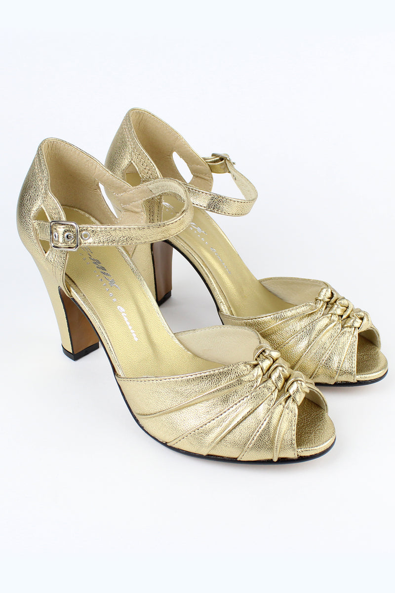 Re-Mix Ritz Heels - Gold - Trashy Diva - High Quality Vintage Inspired Shoes
