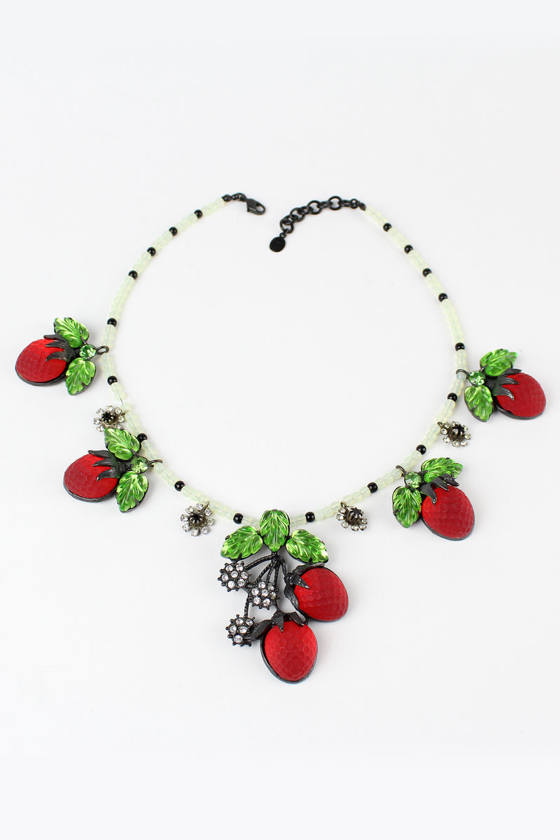 De Luxe Strawberry Necklace