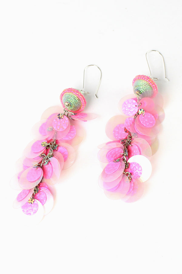 Sequin Disc Earrings