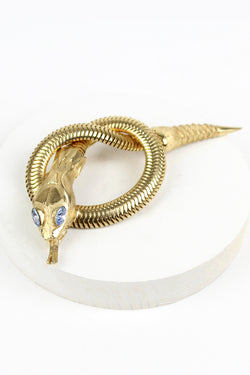 Vintage Coiled Serpent Brooch