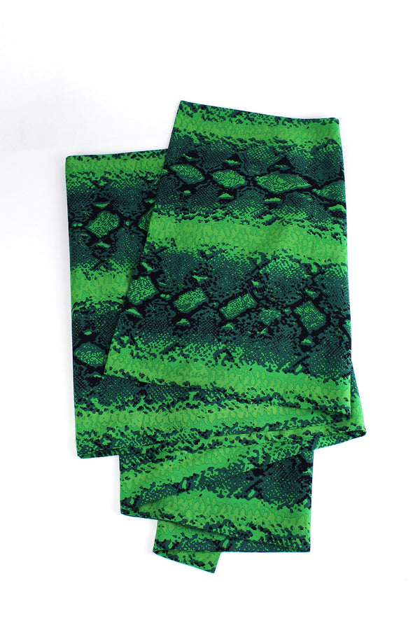 Wrap Scarf - Green Snake
