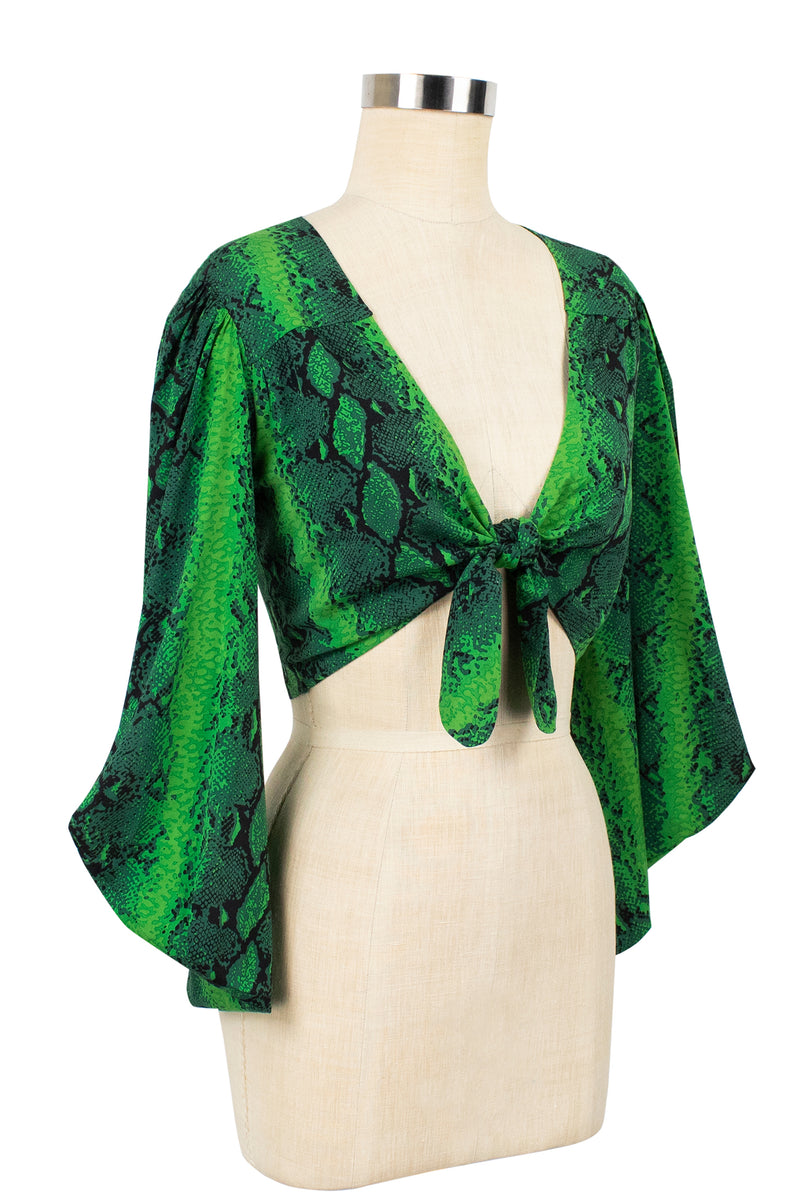 Amaya Tie Top 2 - Green Snake