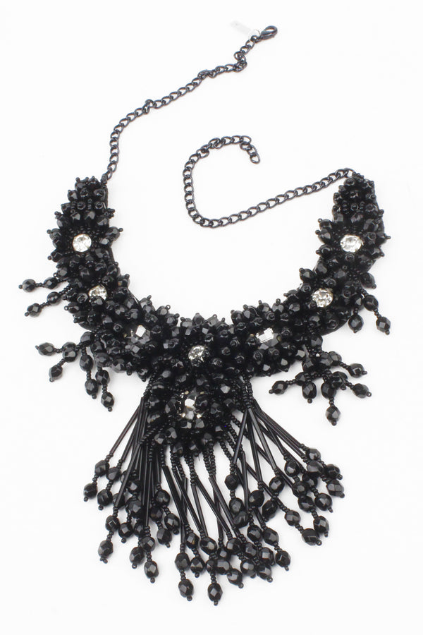 Jyo Victoriana Jet Beaded Necklace