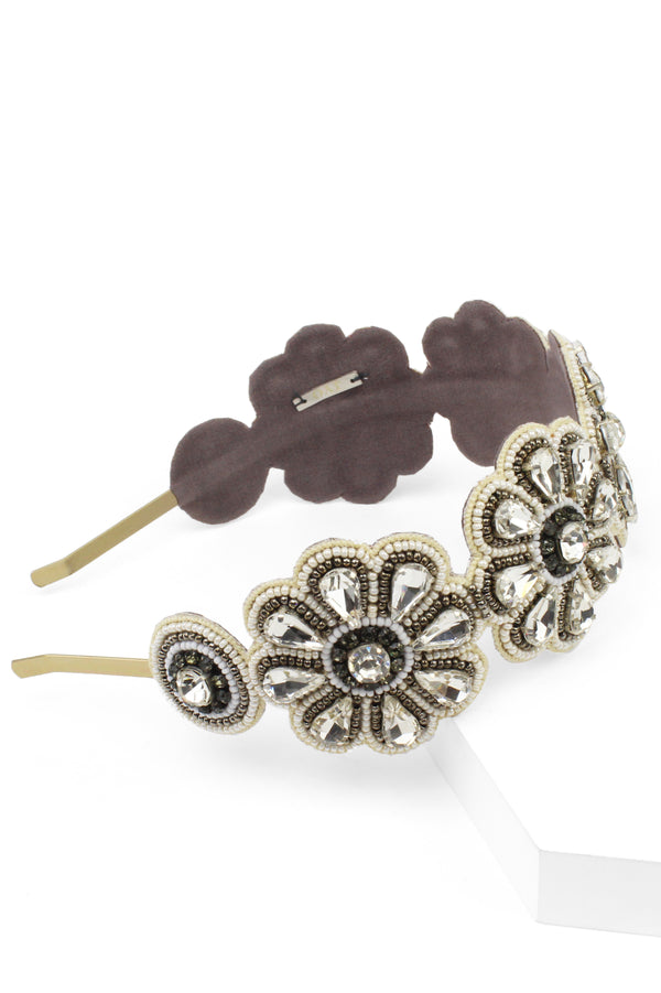 Jyo Crystal Daisy Beaded Headband
