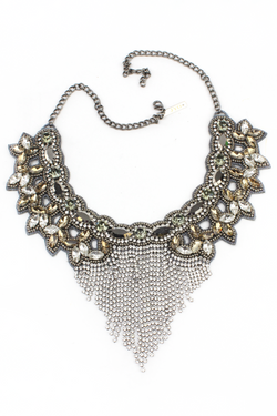 Jyo Crystal Vintage Goddess Necklace