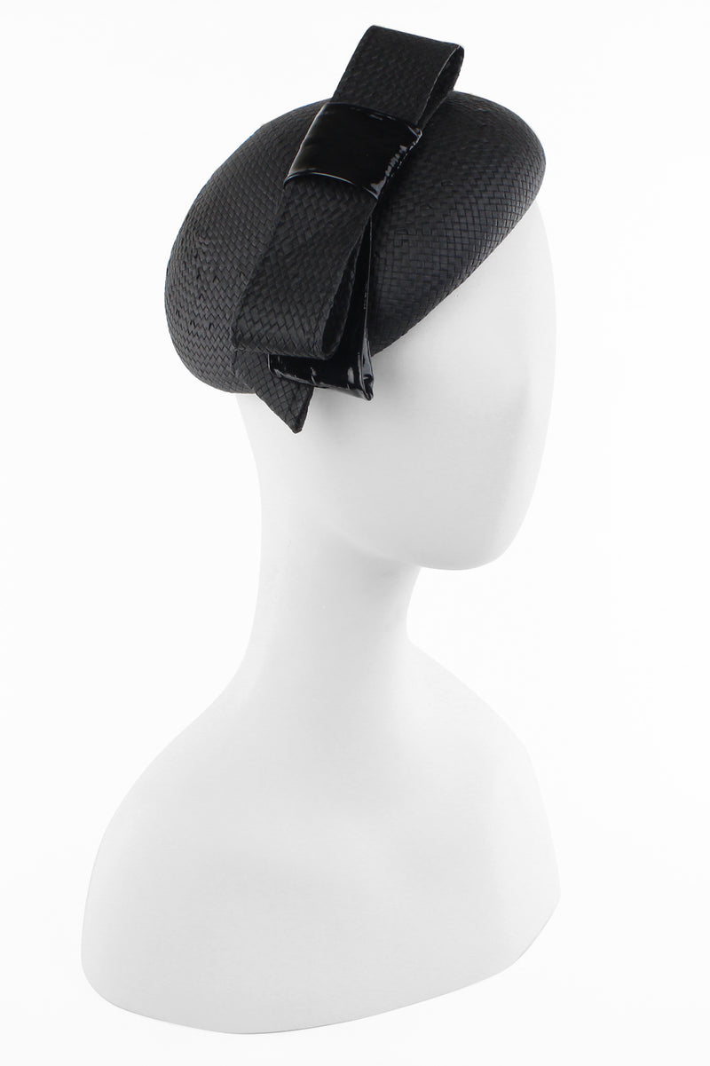 Kathy Jeanne Straw Fascinator with Bow