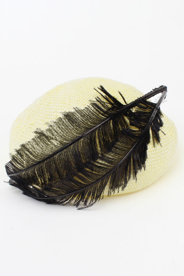 Jeanne Straw Hat with Feathers