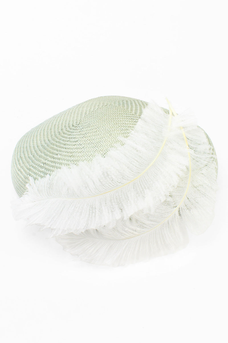 Kathy Jeanne Straw Hat with Feathers
