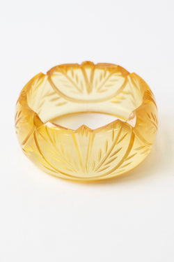 Leaf Carved Bangle