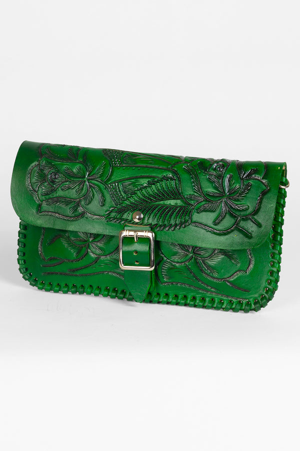 Mexil Hand Tooled Clutch