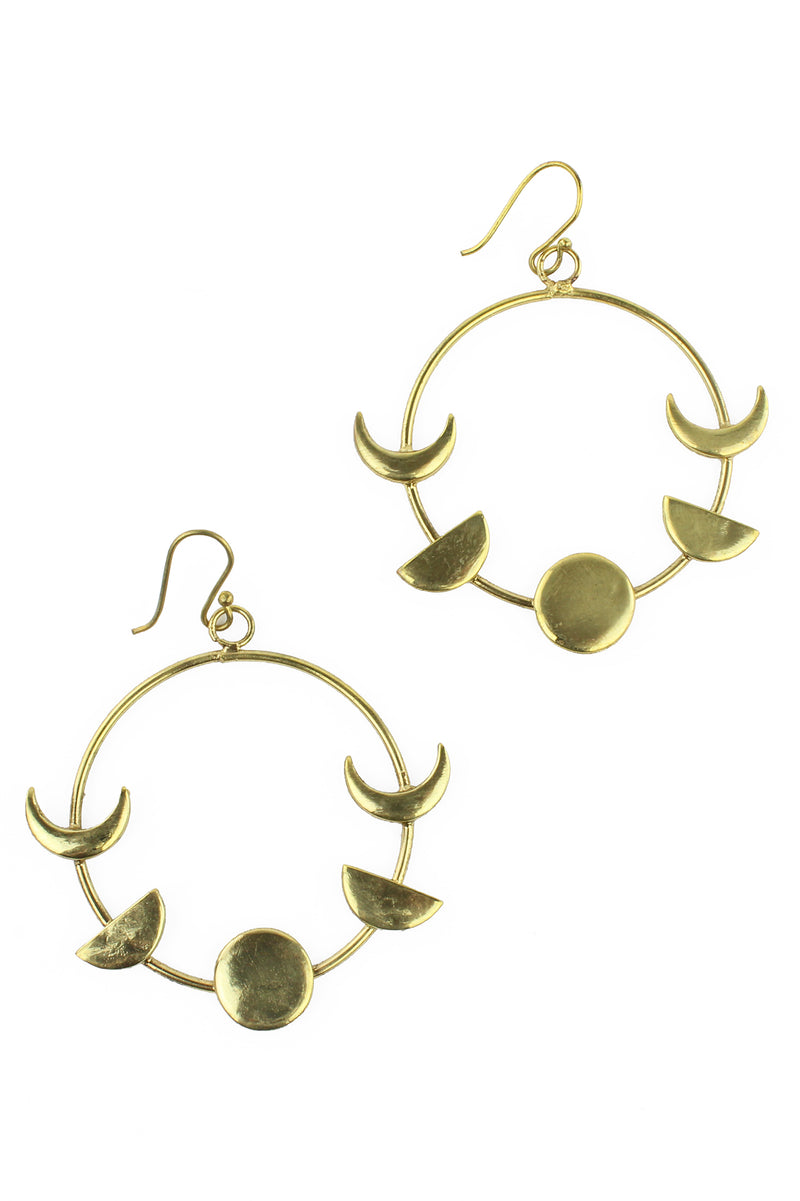 Gold Moon Phase Earrings