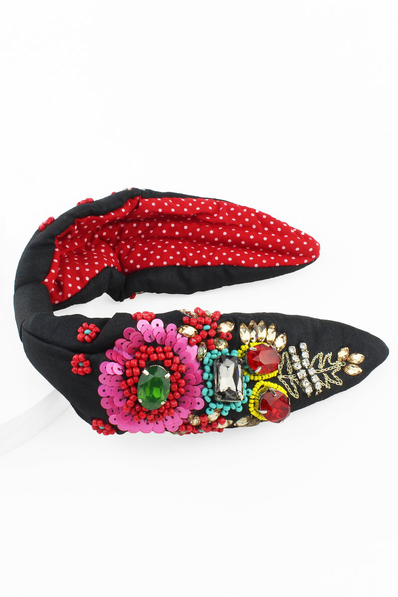 Multi Color Jewel and Beaded Headband