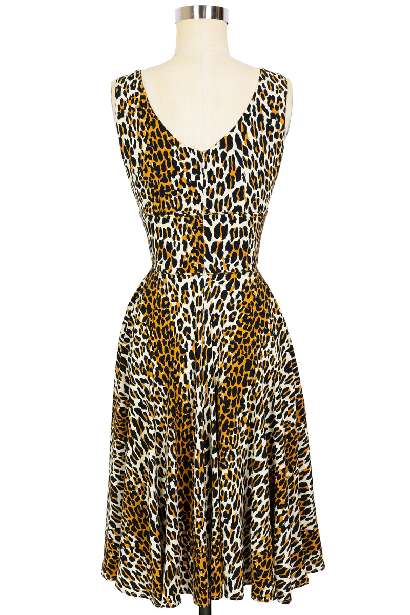 Norma Jean Circle Dress - 50's Leopard