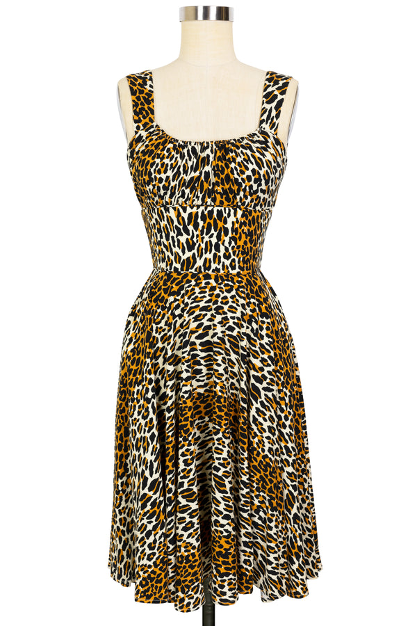 Norma Jean Circle Dress - 50's Leopard - Final Sale