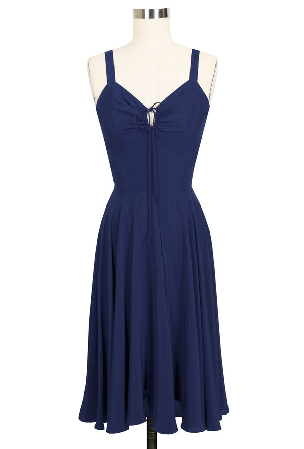 L'Amour Dress - Navy Rayon