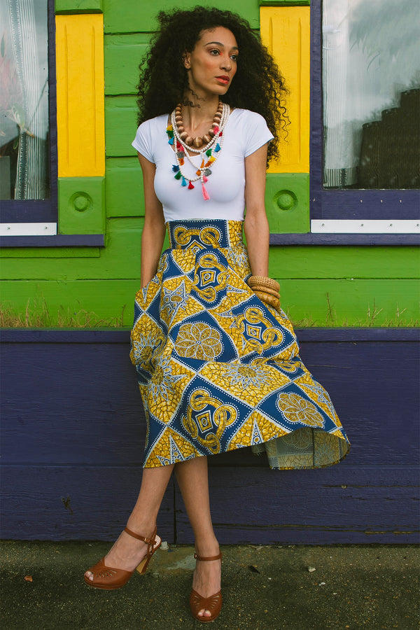 Long Lucy Skirt - Tiki Batik - Final Sale