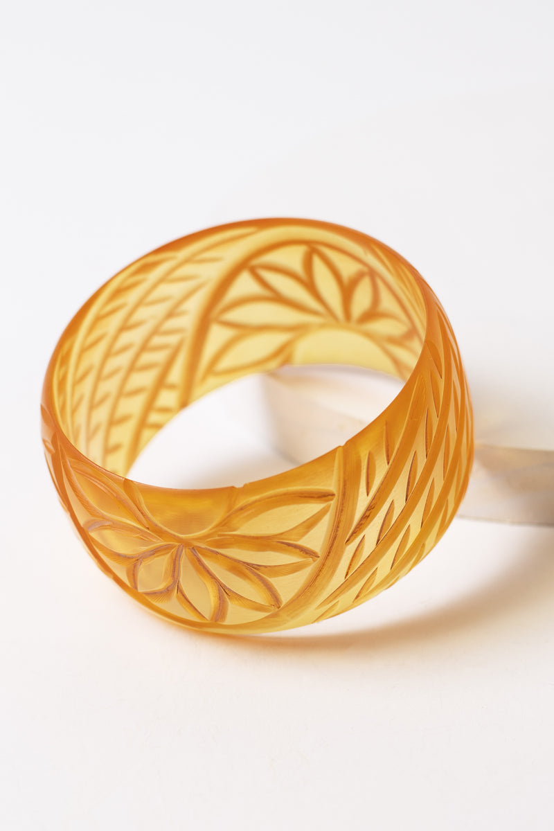 Paradise Floral Faux Bakelite Bangle