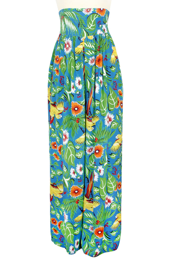 High Waist Pants - Jungle Parrots