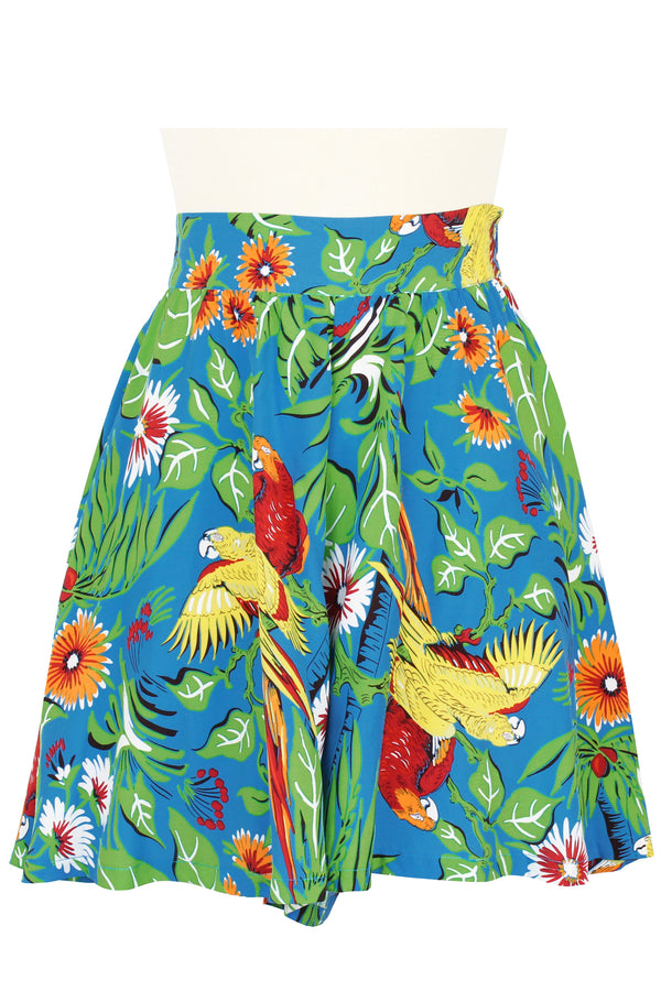 High Waist Shorts - Jungle Parrots