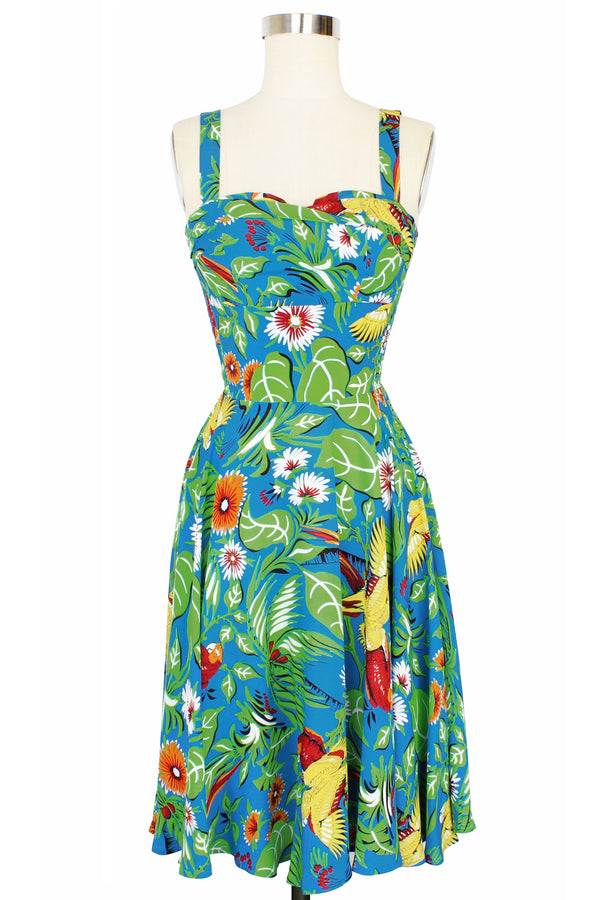 Trixie Dress - Jungle Parrots PRE ORDER