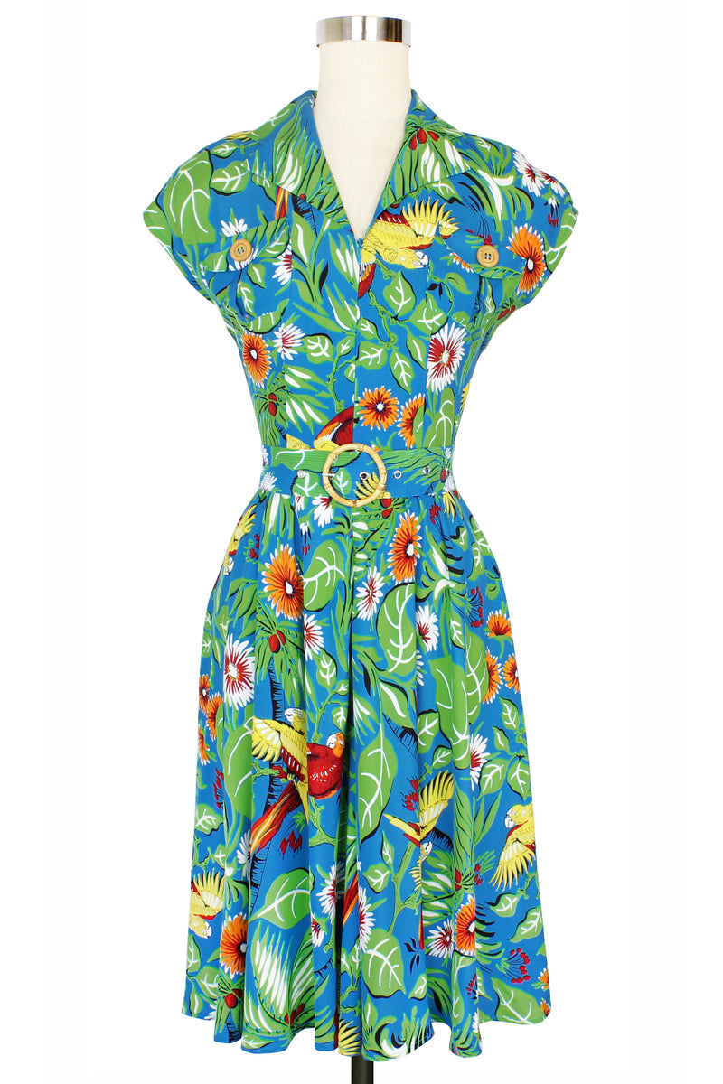 30s Sport Dress - Jungle Parrots