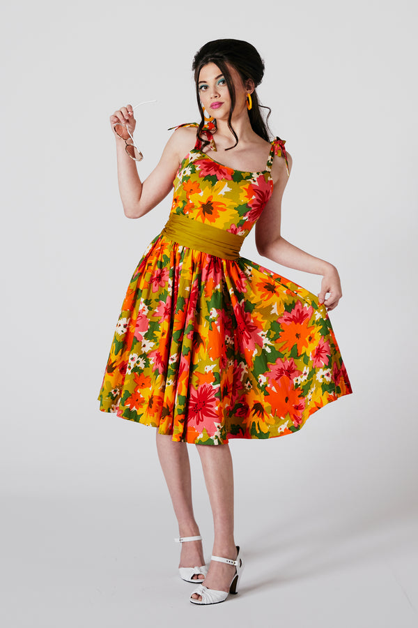 Patsy Full Dress - DayGlow Floral - Pre Order