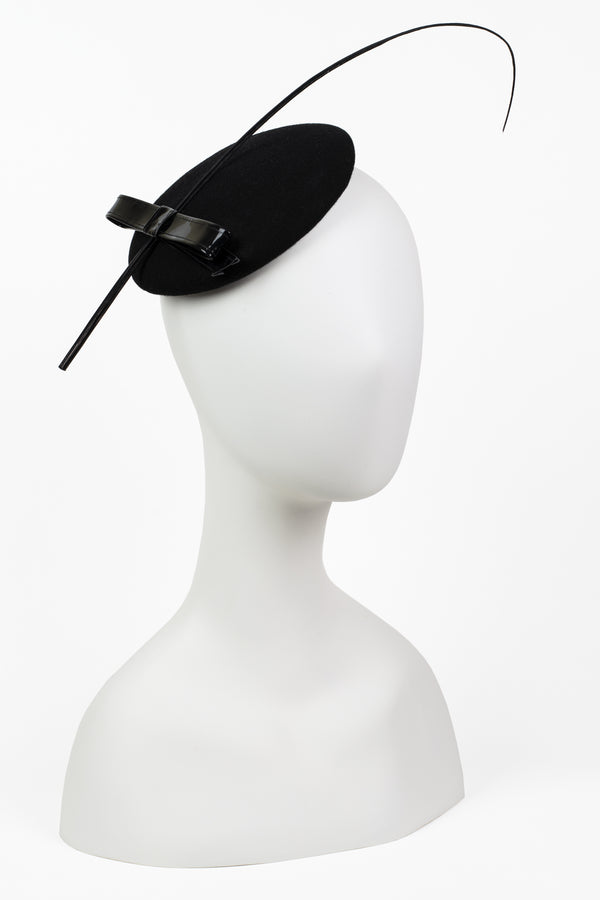 Patent Bow Fascinator