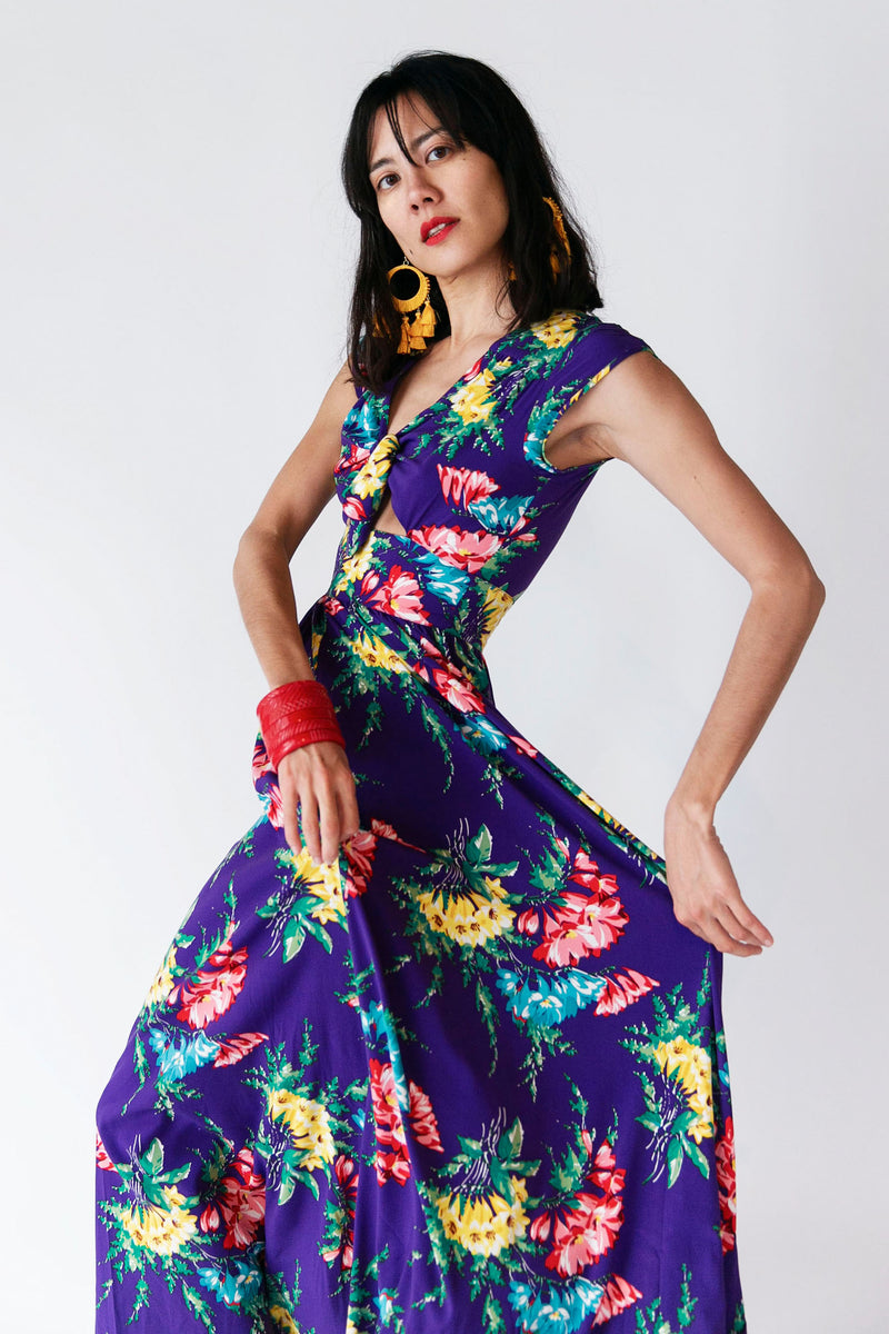 Peek a Boo Tie Dress - Bold Bouquet