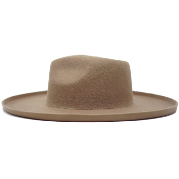 Olive & Pique Wool Felt Panama Hat with Upturned Edge