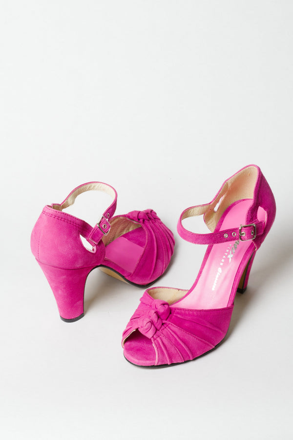 Re-Mix Ritz Heels - Flamingo Pink - Trashy Diva - Vintage Inspired High Heels