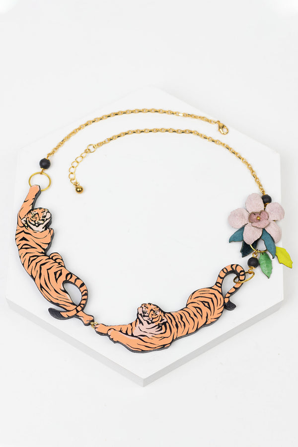 Rosita Bonita Leaping Tiger Necklace
