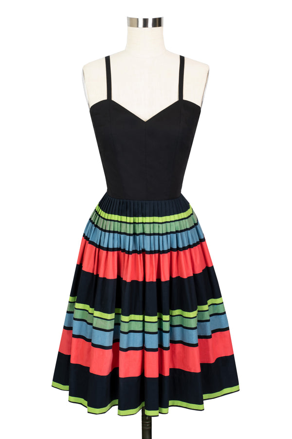 Ruby Stripe Middy Dress - 50's Stripe