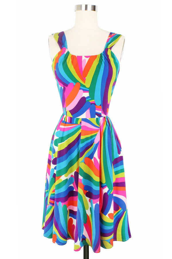 Lucky Aloha Dress - Rainbow Bright