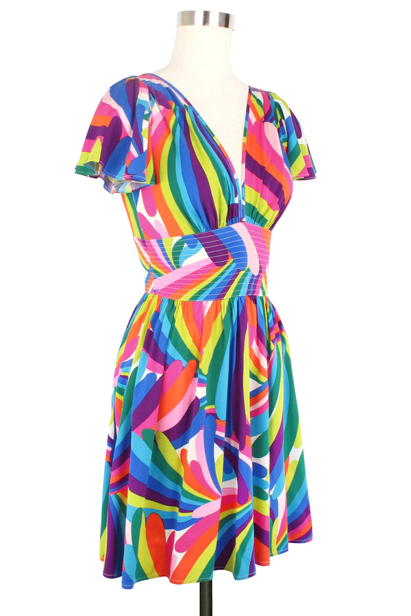 Deep Cut Camilla Mini Dress - Rainbow Bright PRE-ORDER