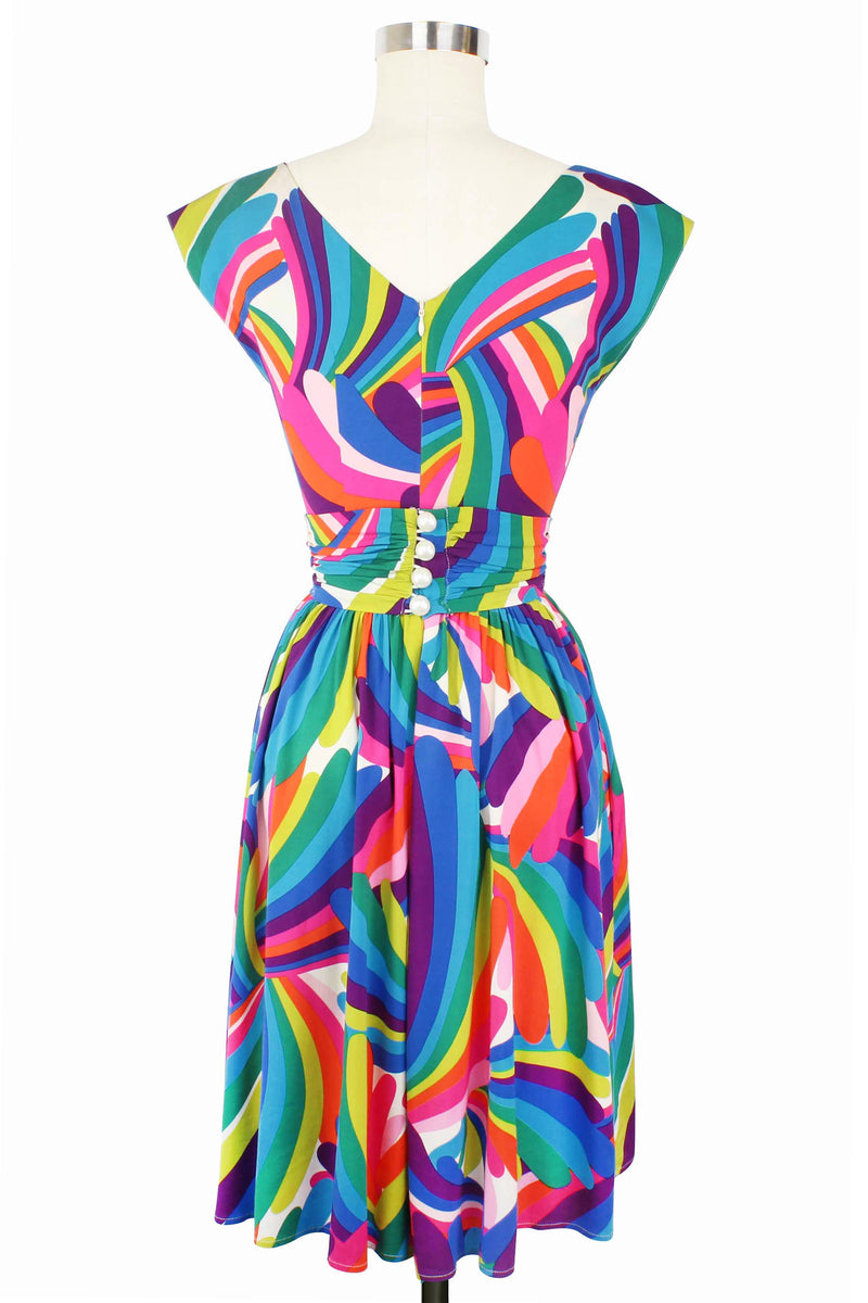 Cassandra Dress - Rainbow Bright