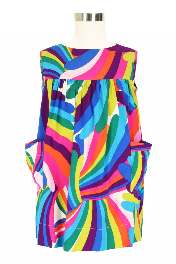 Lil House Dress - Rainbow Bright
