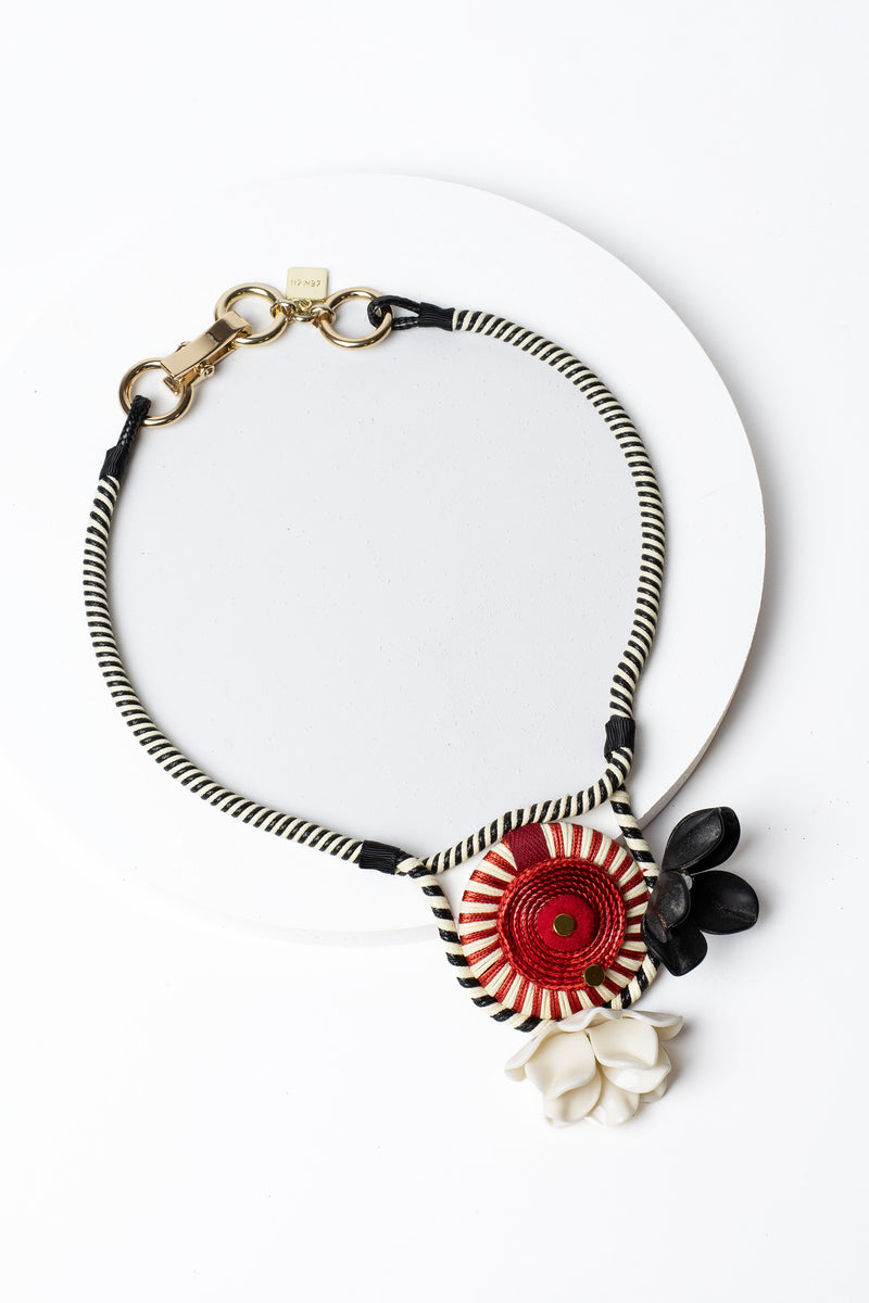 Zenzii Pinwheel Statement Necklace