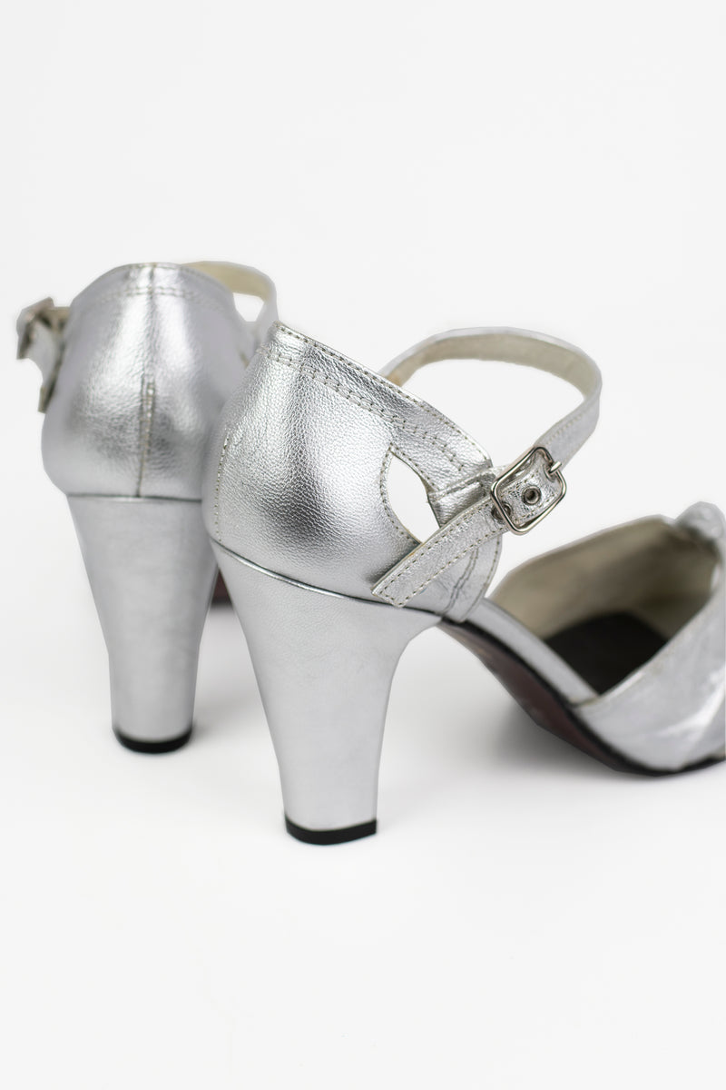 Re-Mix Ritz Heels - Metallic Silver - Trashy Diva