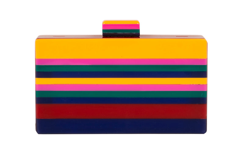 Retro Striped Clutch