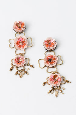 Roses and Clovers Earrings