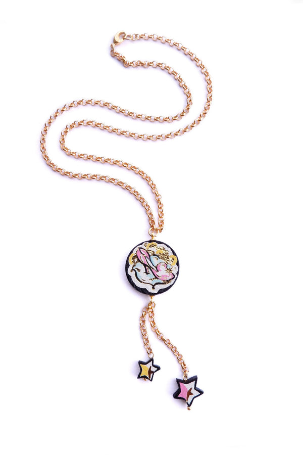 Rosita Bonita Cinderella Glass Slipper Pendant Necklace