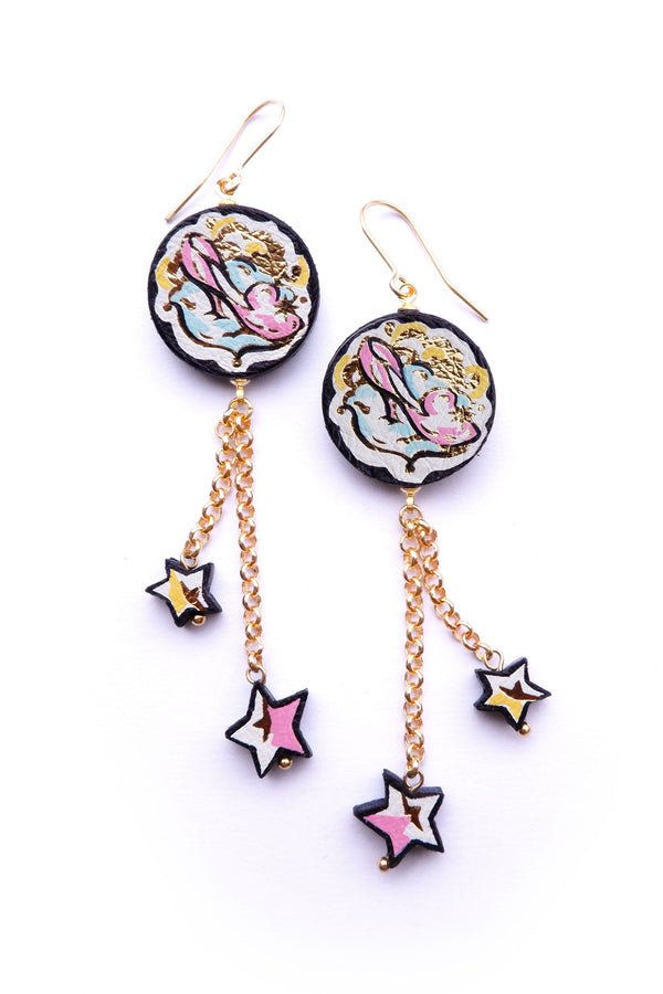 Rosita Bonita Cinderella Glass Slipper Starlight Earrings