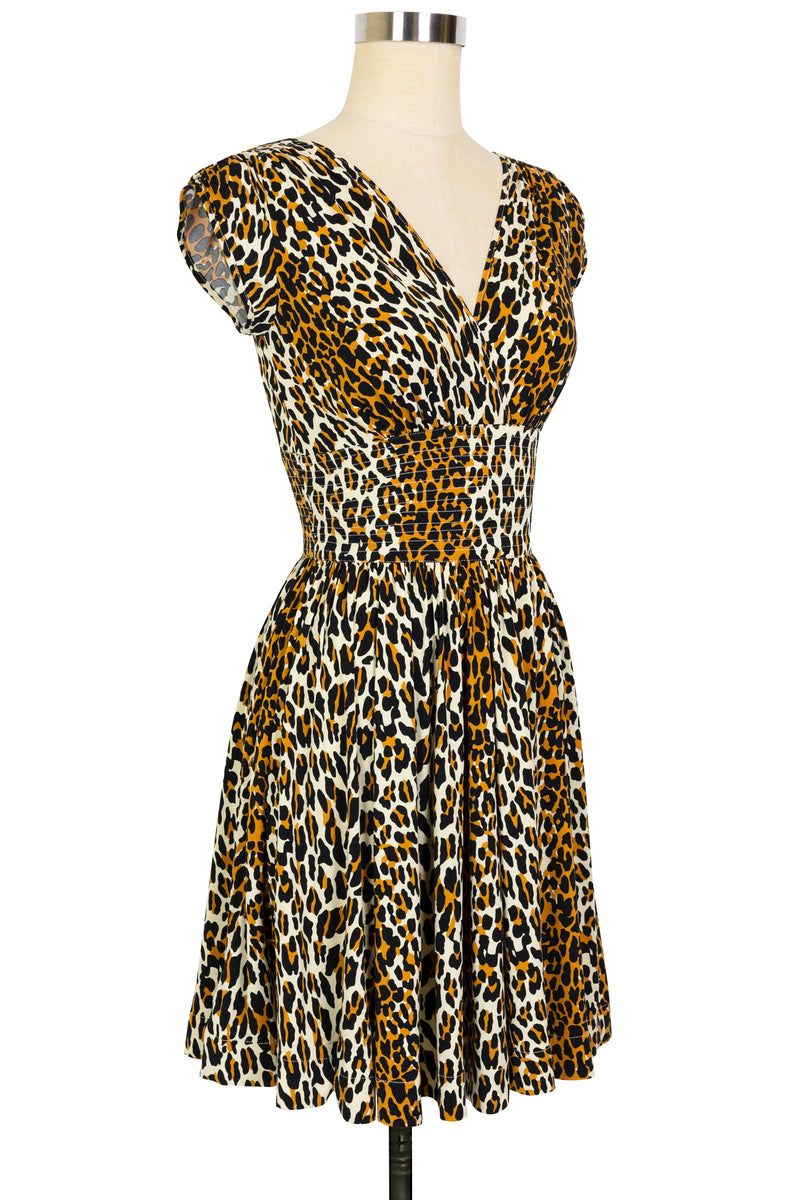 Sandy Mini Dress - 50's Leopard