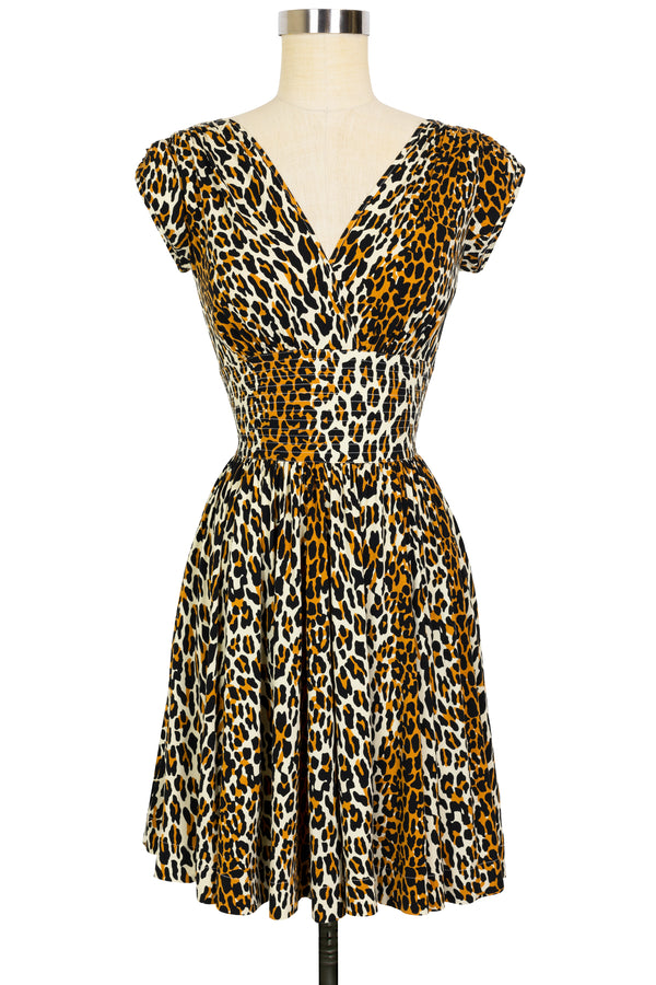 Sandy Mini Dress - 50's Leopard - Final Sale